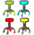 Abstract Stool vector image