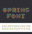 bright color line geometrical latin font vector image