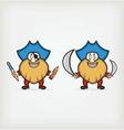 Cartoon pirate vector image