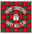 Christmas pop style design vector image