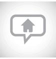 Home grey message icon vector image