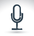 Hand drawn microphone icon brush drawing vector image