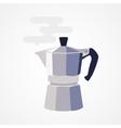 Flat design icon coffee maker vector image