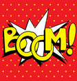 cartoon boom explosion vector image