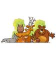 cartoon forest animals group design vector image
