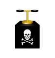 detonating fuse with danger sign vector image