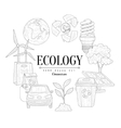 Ecology Icons Vintage Sketch Set vector image