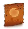 Happy Halloween background template vector image