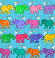 Seamless pattern of baby elephants vector image