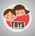 Toys design over gray background vector image