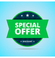 Special offer badge in flat style vector image vector image