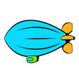 airship icon icon cartoon vector image