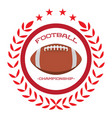 isolated football emblem vector image