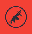 machine gun icon in circle vector image