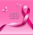 Breast cancer awareness pink ribbons vector image