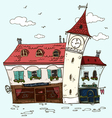 Old houses Vintage facades Old Europe Cartoon vector image