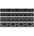 set of borders White pattern on black vector image
