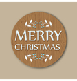 round christmas card vector image vector image