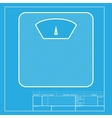 Bathroom scale sign White section of icon on vector image