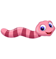 worm cartoon vector image vector image