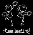Cheerleading vector image