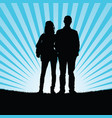 couple silhouette with prision ball in nature vector image