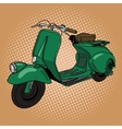 Scooter pop art style vector image