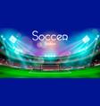soccer stadium design vector image
