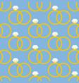 wedding rings pattern vector image
