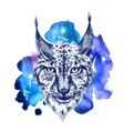 animal on watercolor space vector image