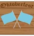 Oktoberfest Bavarian flag symbol vector image