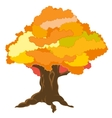 Big tree by autumn vector image