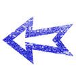 arrow left grunge textured icon vector image
