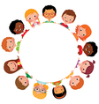 Children of friends of the world vector image