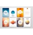 Set of brochures in poligonal style on Mardi Gras vector image