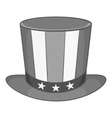 American hat icon black monochrome style vector image
