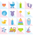 background with baby boy elements vector image