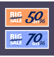 Big autumn sale banners vector image