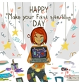 Happy Make your first site or blog day vector image