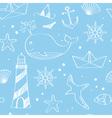 Nautical doodles vector image