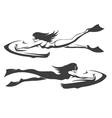 Sea bob Driver emblem set vector image