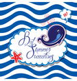 Summer card striped 2 380 vector image