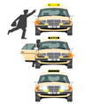 Taxi and people vector image