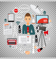 news and journalist concept vector image