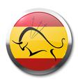 Realistic badge bullfighting vector image