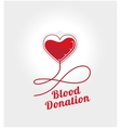 Donate blood logo vector image vector image