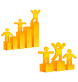people on growing diagram vector image vector image