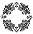 Richelieu embroidery stitches inspired lace vector image