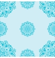 Seamless pattern with mandalas vector image