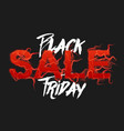black friday sale text with red fire flames vector image